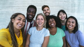 group-multiracial-friends-having-fun-outdoor-happy-mixed-race-people-picture-id1285126883